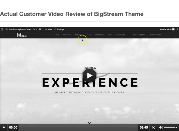 BigStream - Multipurpose One/Multi Page Theme