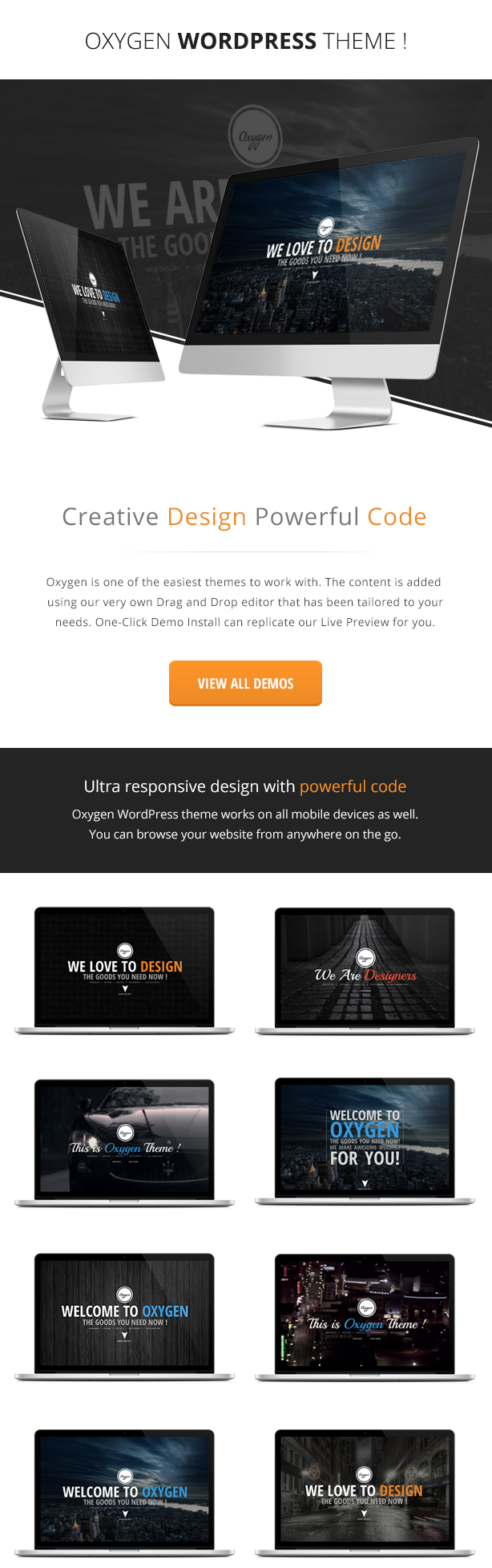 Oxygen - One Page Parallax WordPress Theme